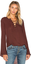 Bella Dahl Bell Sleeve Lace Up Top