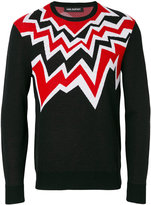 Neil Barrett embroidered pattern sweater