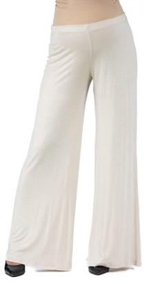 24/7 Comfort Apparel 24seven Comfort Apparel Elastic Waist Flared Leg Maternity Palazzo Pants