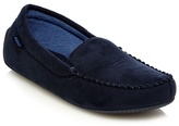 Totes Navy Moccasin Slippers