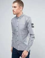 The North Face Denali Oxford Shirt Buttondown Sleeve Logo in Navy