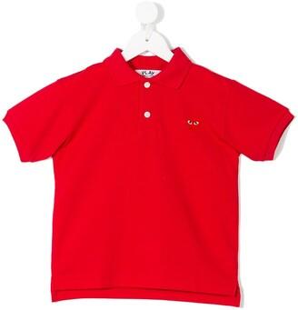Comme Des Garçons Play Kids Heart Polo Shirt