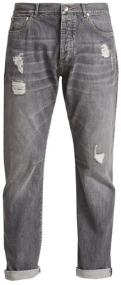 Brunello Cucinelli Distressed Faded Jeans