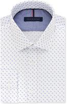 Tommy Hilfiger Men's Slim-Fit Non-Iron Blue Print Dress Shirt