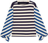 Golden Goose Deluxe Brand Nora Striped Stretch-cotton Jersey Top - Blue