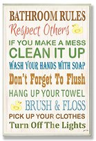 Rubber Ducky The Stupell Home Decor Collection Bathroom Rules Typography Bathroom Wall Plaque