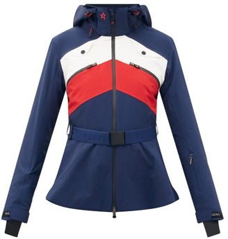 Perfect Moment Niseko Belted Soft-shell Hooded Ski Jacket - Navy