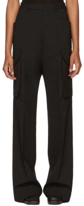 Rick Owens Black Zanlight Tailored Cargo Trousers