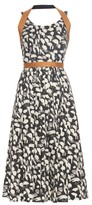 Sophie Theallet Yolanda abstract-print raffia-trimmed dress