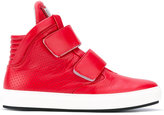 Dirk Bikkembergs hook & loop hi-tops - men - Calf Leather/Leather/rubber - 41