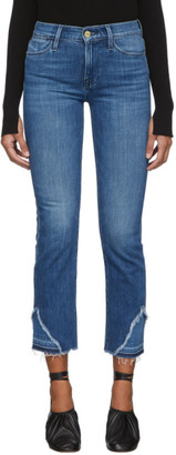 Frame Blue Le High Straight Released Hem Jeans