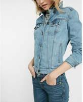 Express eco-friendly denim trucker jacket