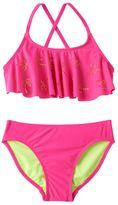 Girls 7-16 SO® Perforated Palm Trees 2-pc. Bikini Swimsuit Set