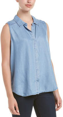 NYDJ Denim High-Low Sleeveless Shirt