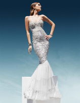 Terani Couture 1611GL0461A Beaded Sweetheart Mermaid Dress