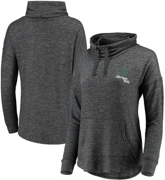 Women's Heathered Charcoal Michigan State Spartans Cuddle Cowl Pullover Sweatshirt