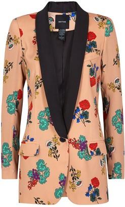 Smythe Dusky Pink Floral-print Blazer
