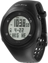 Soleus GPS Fly Black Silicone Strap Running Digital Sport Watch