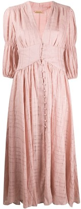 Cult Gaia Willow fitted smock dress