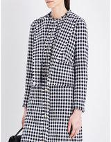 Thom Browne Frayed-trim Dogtooth-tweed Jacket