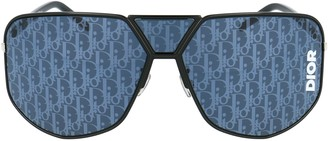 Christian Dior Geometric Mask Frame Sunglasses