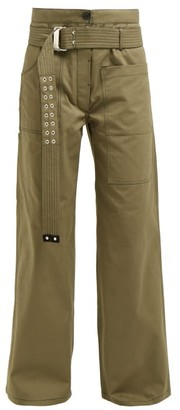 La Fetiche - David Wide-leg Utility Cotton Trousers - Womens - Khaki