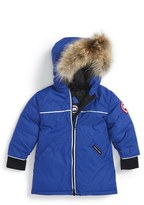 Canada Goose Infant 'Reese' Down Jacket With Genuine Coyote Fur Trim