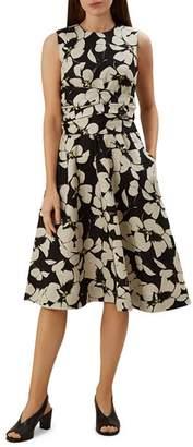Hobbs London Twitchill Tie-Waist Floral Dress