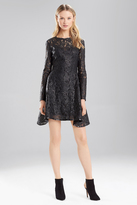 Josie Natori Lacquer Lace Dress
