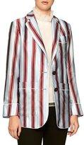 Burberry Panama Striped Pajama-Style Blazer