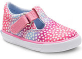 Keds Girl's Daphne Synthetic Glitter Hook and Loop Sneakers