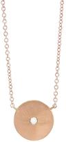 Tate Circle Diamond Pendant Necklace - Rose Gold