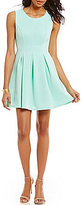 Honey and Rosie Sleeveless Textured Pleated Skater Dress