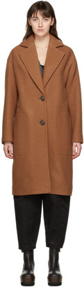 See by Chloe Brown Virgin Wool Coat