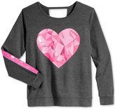 Ideology Sequin-Stripe Heart Graphic Top, Big Girls (7-16), Only at Macy's