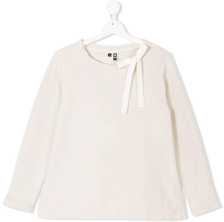 European Culture Kids TEEN bow detail sweatshirt