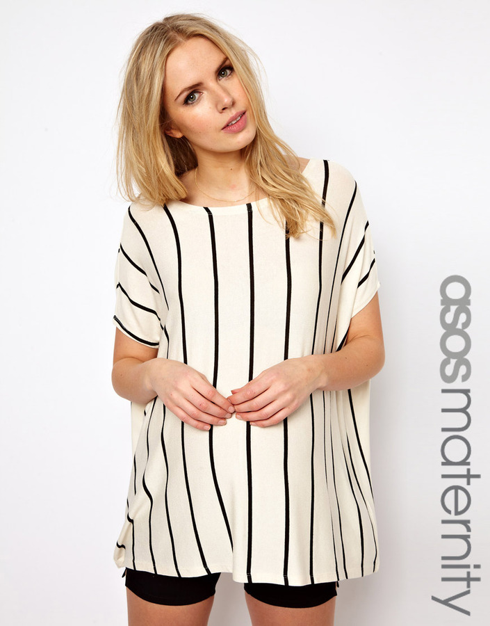 Asos T-Shirt With Vertical Stripe