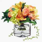 west elm Faux Flower Bouquet in Vase - Orange