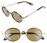 Givenchy Women's 52Mm Round Sunglasses - Gold Havana