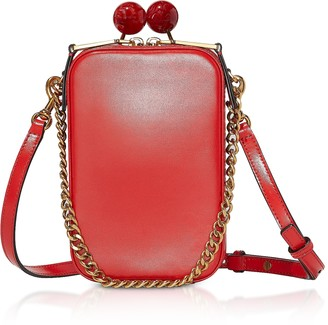 Marc Jacobs Bright Red Leather The Vanity Clutch