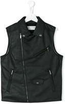 John Galliano biker gilet - kids - Cotton/Polyurethane - 14 yrs
