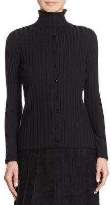 Akris Wide Ribbed Cardigan