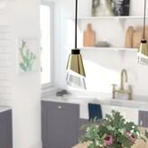 Gavrilin 1 - Light Single Cone Pendant Brayden Studio Finish: Aged Brass