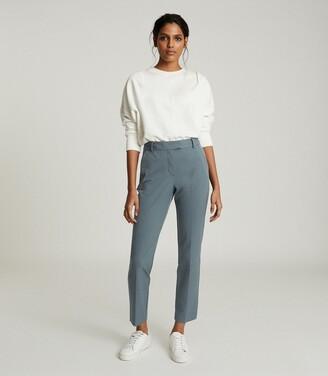 Reiss Joanne - Slim Fit Tailored Trousers in Teal