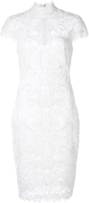 Tadashi Shoji Embroidered Turtleneck Dress
