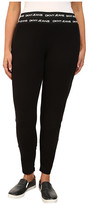 DKNY Logo Elastic Leggings in Noir
