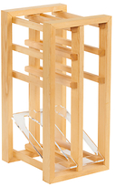 Traditional Wine Rack Co. Wood Wine Rack Display Unit, 6 Bottle, FSC-Certified (Scandinavian Redwood)