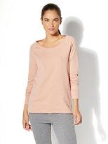 New York & Co. Back-Twist Knit Tunic Top - Blush