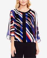 Vince Camuto Printed 3/4-Sleeve Top