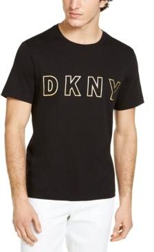 DKNY Men's Foil Outline Logo T-Shirt